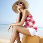 Девушка в отпуске